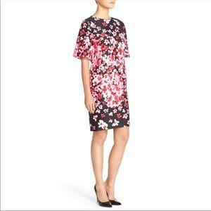 Eliza J Pink Floral Print Scuba Shift Dress Size 2